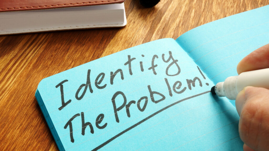 identify the problem journaling